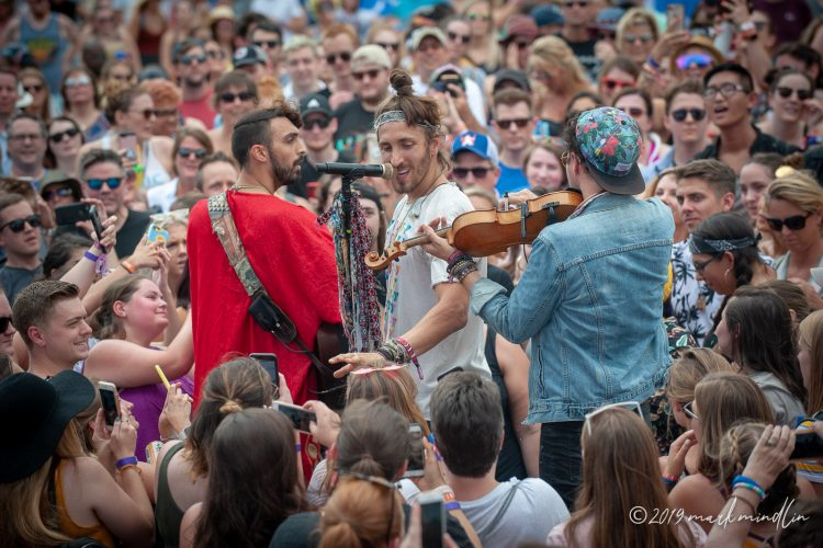 Magic Giant plays for the crowd